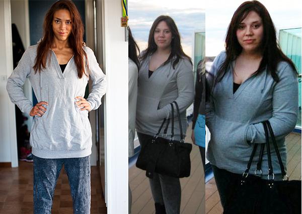 Samma outfits - olika tider i livet