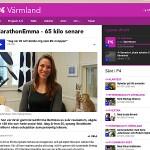 MarathonEmma i Sveriges Radio P4 Värmland