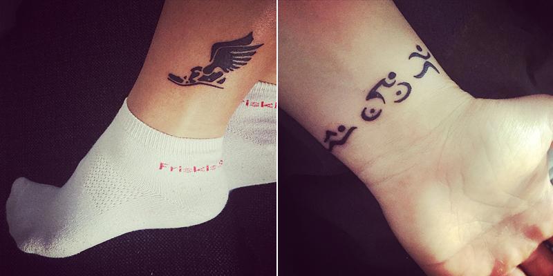 tatuering på benet