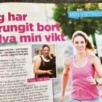 Repotage i tidningen MåBra – Jag har sprungit bort halva min vikt